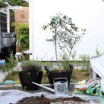 ウッドデッキをもっと素敵に! 鎌倉の家 庭づくりプロジェクト-その1