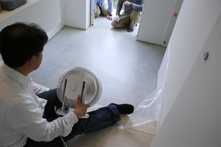 鎌倉の家の猫仕様-その3(玄関土間塗装)