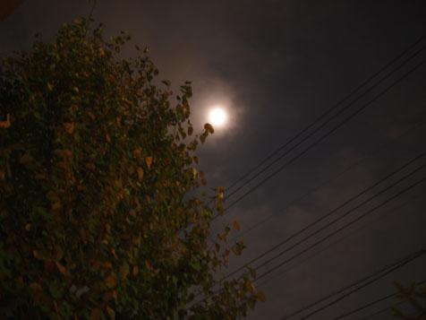 夜のウッドデッキ